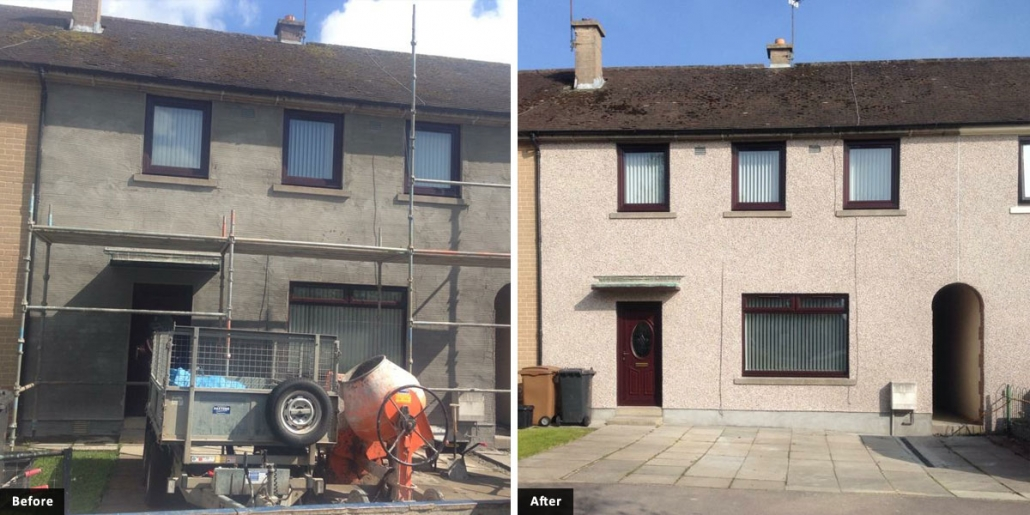 External roughcast and rendering work